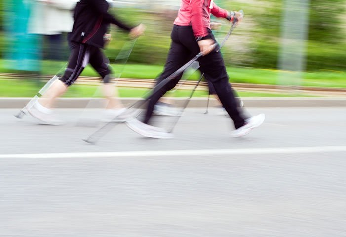 Nordic Walking - Walking with specially designed poles