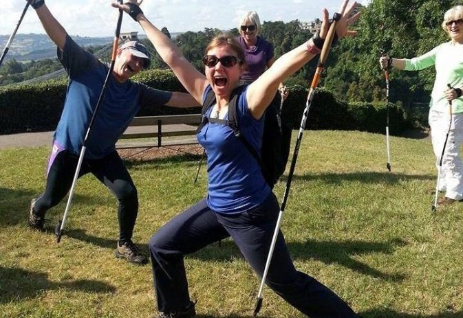 How to use Nordic walking to trim, tone and lose inches