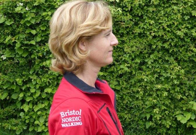 Best head and neck position when Nordic walking