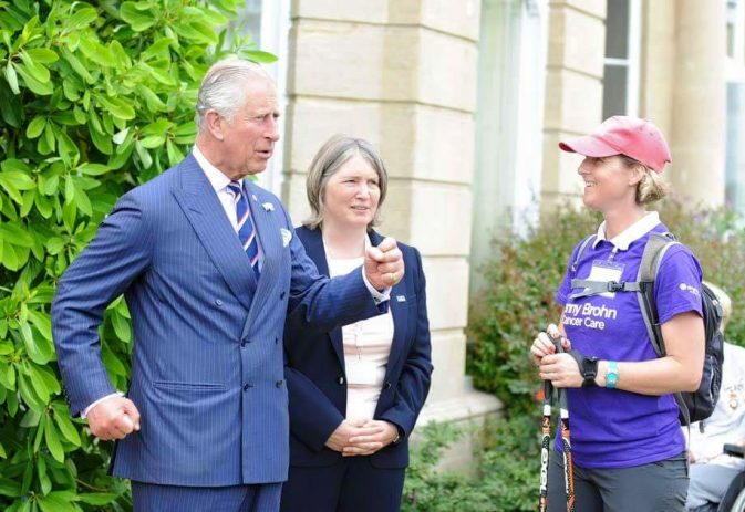 Speaking to Prince Charles about Nordic walking and cancer