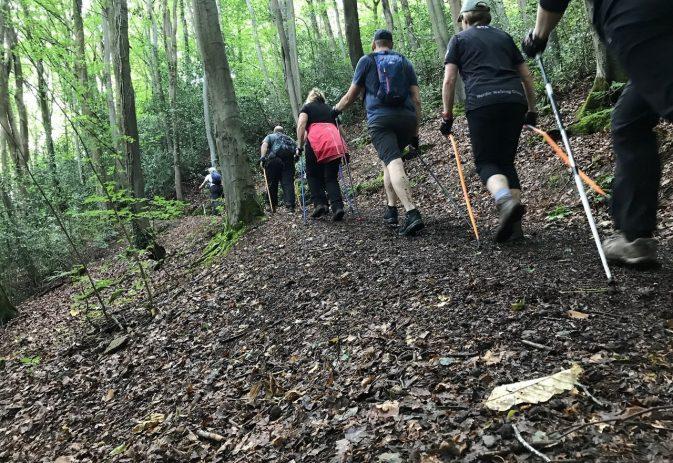 The best way to Nordic walk uphill