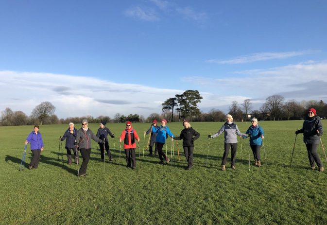 Improving fitness using goals when Nordic walking